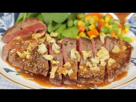 Steak With Garlic Sauce Recipe | Cooking With Dog