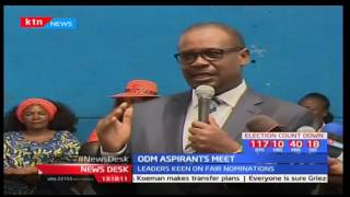 ODM aspirants hold meeting to discuss on how to ensure free and fair nominations