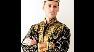Mens Kurta Indian Traditional Wedding Groom Sherwani, Model Tyler Lord Hamilton