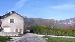preview picture of video 'Piste cyclable Valleiry Vulbens sur #ViaRhôna voie verte'