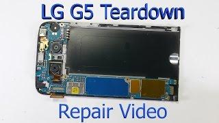 LG G5 Complete Teardown - Screen Replacement - Charging port fix