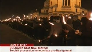 """Around A Hundred"" Neo Nazis Hold Torchlight March Through The Capital Of Bulgaria"