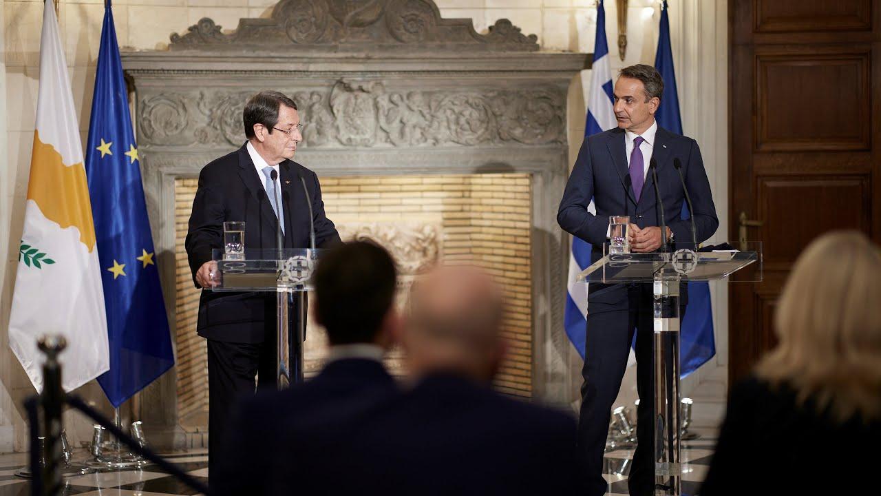 Δηλώσεις του Πρωθυπουργού Κ. Μητσοτάκη και του Προέδρου της Κυπριακής Δημοκρατίας Ν. Αναστασιάδη