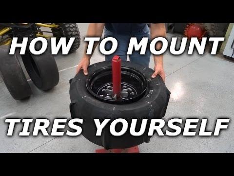 How to mount ATV / UTV / SXS tires at home! Mounting Skat Traks on YXZ rims!