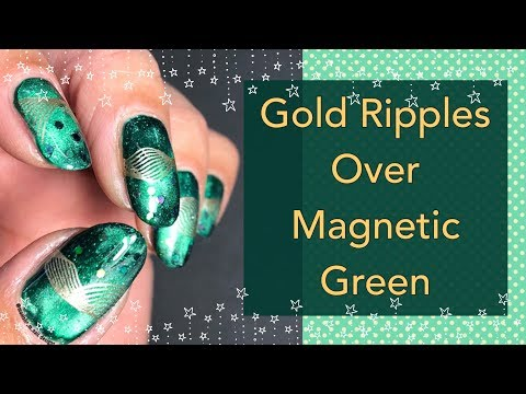 Gold Ripples Over Magnetic Green || KADS