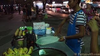 preview picture of video 'Pattaya 2013 Beach Road Street Food at Night eat different พัทยา 芭堤雅 Паттайя पटाया'
