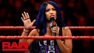 Sasha Banks reveals her motivations for recent attacks: Raw, Aug. 26, 2019