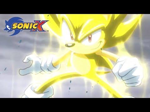 Super Sonic battles gigantic water monster | Sonic X