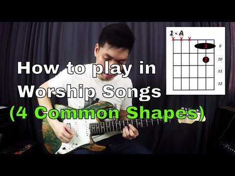 Guitar Emerge - Electric Guitar Tutorial - How To Play In Worship Songs (4 Common Shapes) Mp3