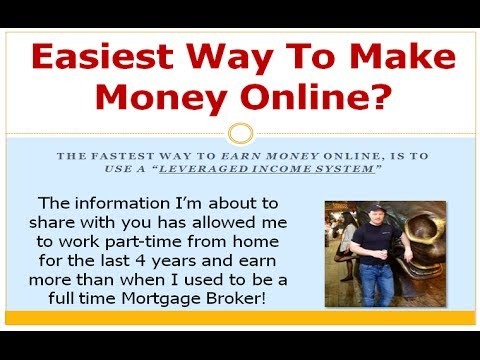 The Easiest Way To Make Money Online With A Leveraged Income Funnel