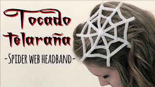 HALLOWEEN: TOCADO TELARAÑA - SPIDER WEB HEADBAND
