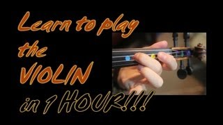 Learn To Play The Violin in 1 (one) Hour!! YES – in one whole hour!!!