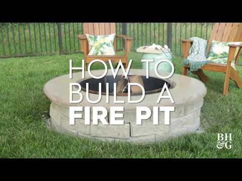 How to Build A Firepit | Made By Me Garden | Better Homes & Gardens