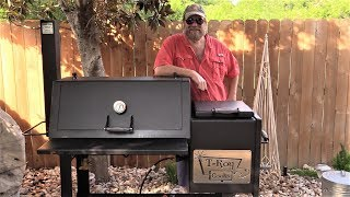 How To Season a Lone Star Grillz 20 inch Offset Smoker