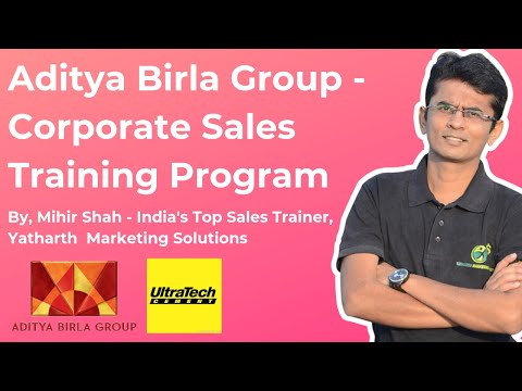 Aditya Birla Group - UltraTech Cement - Sales Training Program Video - Yatharth Marketing Solutions