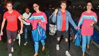 Kareena Kapoor Wid $TEP-S0N Ibrahim Khan On Airport Going For An International Award In Melbourne