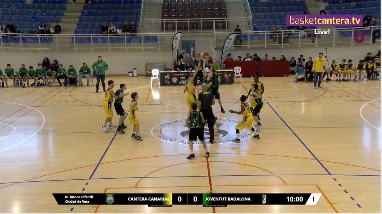 U13M - CANTERA CANARIAS  vs JOVENTUT BADALONA- III Torneo Infantil Ciudad de Vera (BasketCantera.TV)
