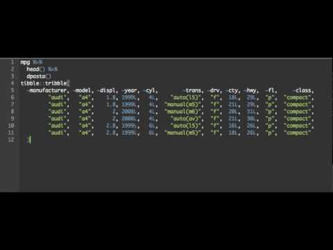Datapasta in 64 seconds