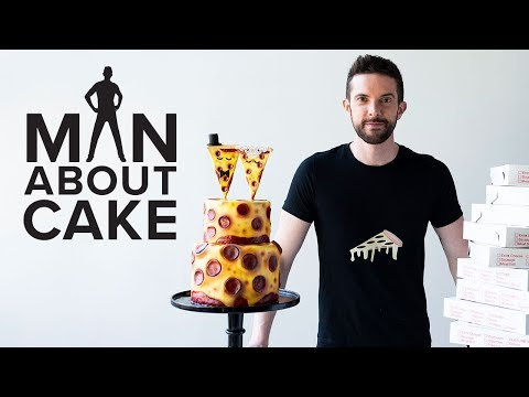 Pizza Wedding Cake for National Pepperoni Pizza Day 🍕🍕🍕| Man About Cake with Joshua John Russell