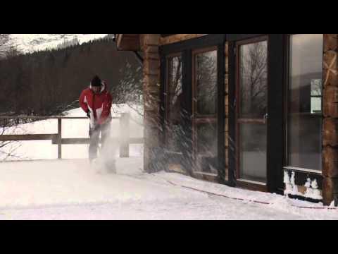 Alpina Elektrisk Snøfreser - film på YouTube