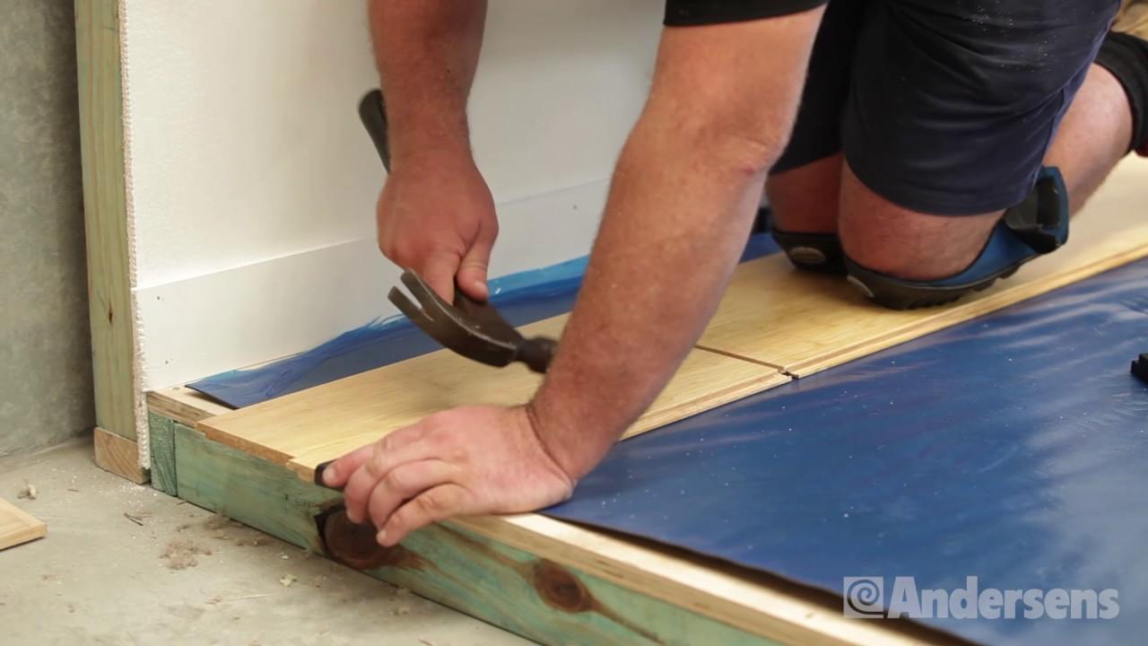 Expert Installation: Click-lock flooring