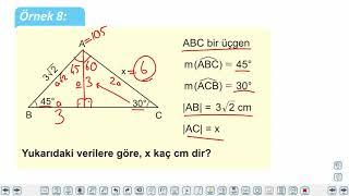 Eğitim Vadisi 9.Sınıf Matematik 29.Föy Dik Üçgen ve Trigonometri Konu Anlatım Videoları