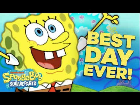 SpongeBob's Best Day EVER 🎉 in 5 Minutes! | #SpongeBobSaturdays