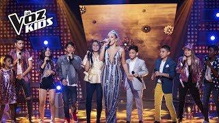 El Equipo Fanny canta No Te Pido Que Traigas Flores | La Voz Kids Colombia 2018