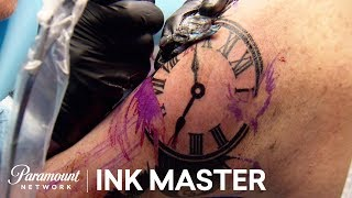 Clock Tattoo Challenge Elimination Official Highlight | Ink Master: Grudge Match (Season 11)