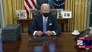 ჯო ბაიდენმა ამერიკის შეერთებული შტატების პრეზიდენტის რანგში პირველ განკარგულებებს მოაწერა ხელი