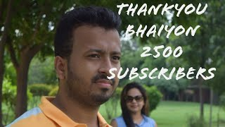 Thank you 2500 subscribers....