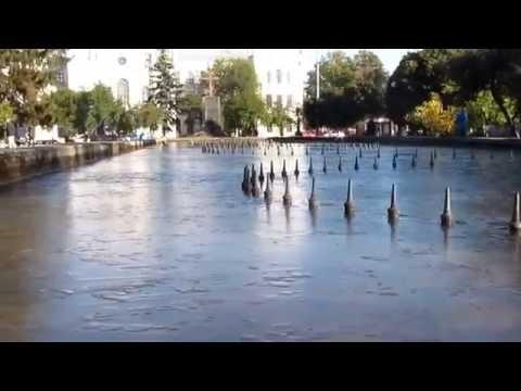В Харькове замерз фонтан
