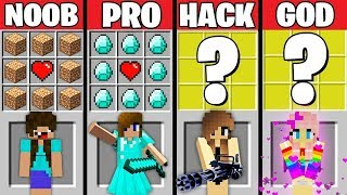 Minecraft Battle: Noob vs PRO vs HACKER vs GOD : SUPER GIRL CRAFTING Challenge / Animation