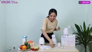 Video hướng dẫn làm mặt nạ bằng máy làm mặt nạ trái cây hoa quả tươi Nhật Bản NIKIO NK-A026 / B026