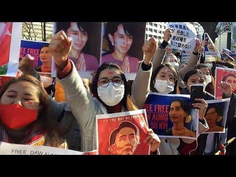 Ιαπωνία: Διαδηλώσεις κατά του πραξικοπήματος στην Μιανμάρ…