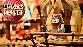 preview picture of video 'Ewok Village 10236 LEGO Star Wars - Review, Stop Motion, Time-Lapse Build'