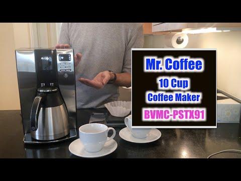 , Mr. Coffee Optimal Brew 10-Cup Thermal Coffeemaker System, BVMC-PSTX91-RB