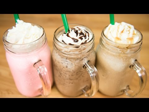 Video Make a Starbucks Frappuccino / Cotton Candy Frappuccino, Java Chip Frappuccino & Caramel Frappuccino