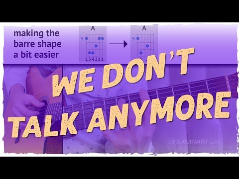"""""""We Don't Talk Anymore"""" Fingerpicking Guitar Tutorial (Simplified and Practical) 