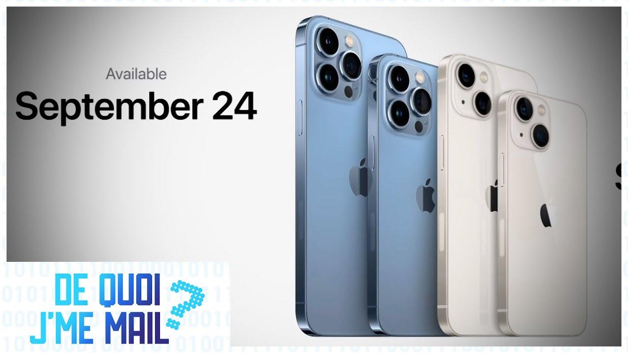 Nouveaux iPhone 13 : quelles nouveautés ? DQJMM (1/2)