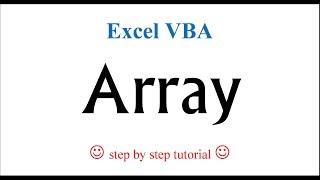Excel VBA - Array (define, store, calculate)