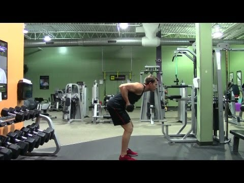 Reverse Grip Dumbbell Bent Over Row - HASfit Back Exercise Demonstration - Dumbbell Bentover Rows