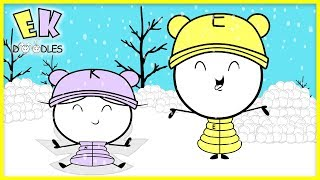SNOW DAY! Snowball Fight with Emma Vs. Kate ! Outdoor + Indoor Play!