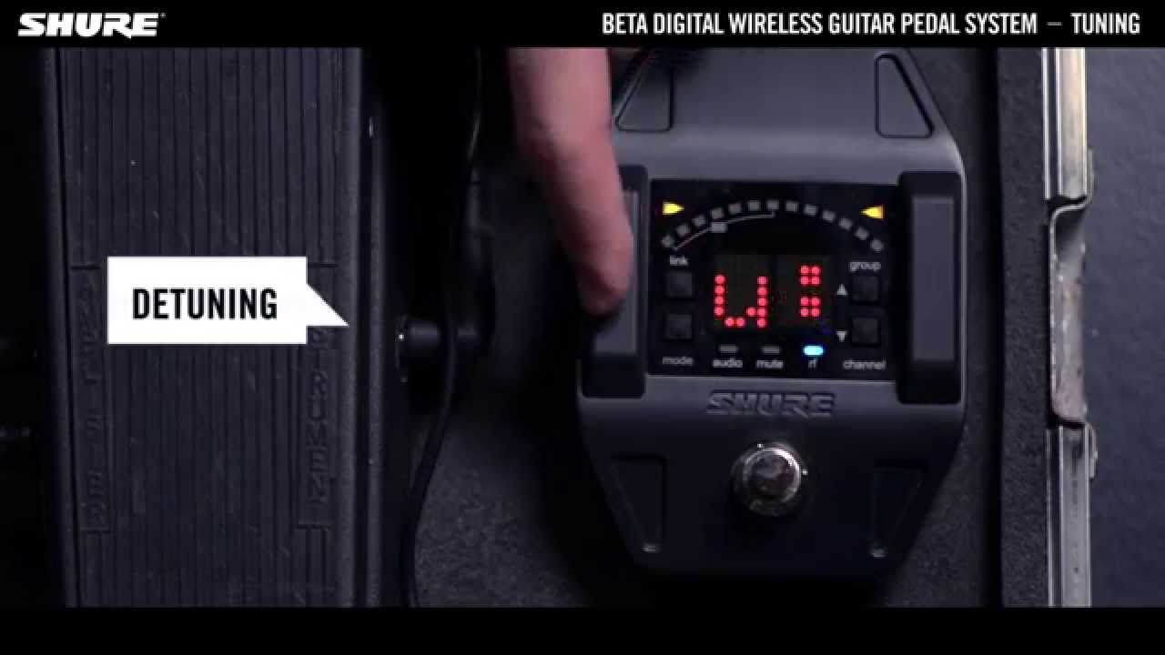Shure Beta Digital Wireless Guitar System: Tuning