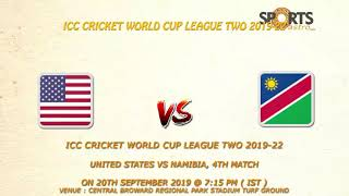 ICC Cricket World Cup League Two 2019-22 United States vs Namibia, 4th Match Prediction