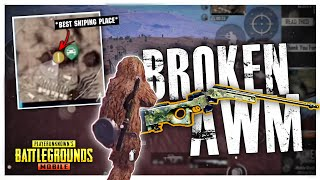 BEST SNIPING PLACE, BUT MY AWM IS BROKEN - PUBG MOBILE
