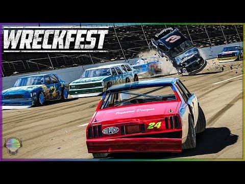 Classic Talladega Destruction | Wreckfest | NASCAR Legends
