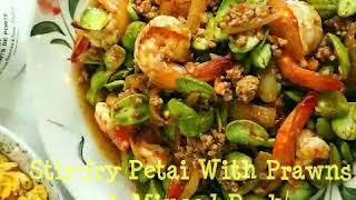 💜Stirfry Petai With Prawns & Minced Pork 臭豆炒肉末虾💜