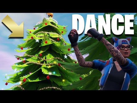 Fortnite Christmas Tree Locations.Fortnite Dance Xmas Trees Stamp Tube