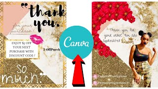BOSS LADY ENTREPRENEUR LIFE EP. 2 | DIY - Making My 'Thank You For Your Purchase' Cards Using Canva